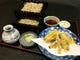 東京湾の江戸前穴子、千葉県富津から。旬の秋野菜を添えて。
