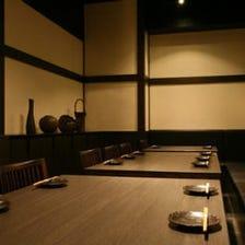 少人数~大人数まで対応の個室空間