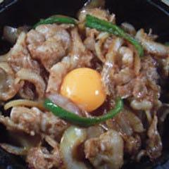 【W】石焼き豚バカ丼