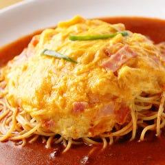 【W】ふわふわ玉子のあんかけスパゲティー