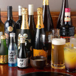 料理に合うワイン・日本酒・焼酎各種、種類豊富に取り揃え♪