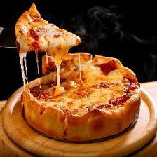 ラクレットチーズのシカゴピザ