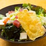 海鮮とうふ湯葉サラダ