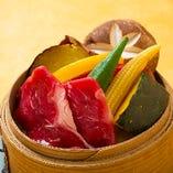 国産牛と野菜のセイロ蒸し