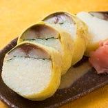 湯葉さば棒寿司