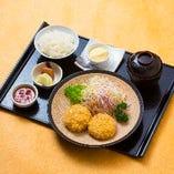 豆乳カニクリームコロッケ定食