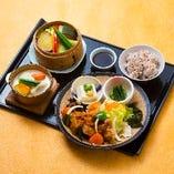 健康お野菜ランチ(鶏の甘酢あんかけ)