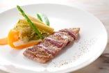 絶品♪イベリコ豚肩ロース肉のプランチャ(鉄板焼き)
