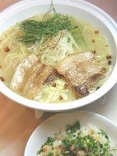イベリコラーメン(醤油or塩)画像は塩ラーメンです。