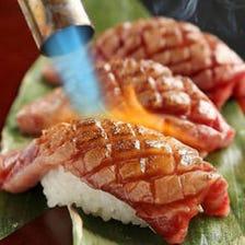 A5ランクの和牛肉寿司