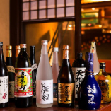 料理との相性◎全国から厳選した日本酒や焼酎を多数ラインナップ