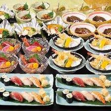 お一人様一皿で安心、絶品海鮮料理や握り寿司を存分に堪能!飲み放題付き『海鮮・握り寿司コース』全7品