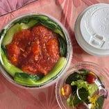 「カップデリ+スープ+ミックスサラダのセット」