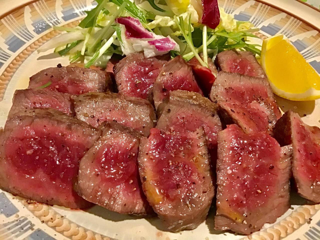 【お料理のみ】国産牛ステーキ(80g)やパスタなど全3品/リーズナブル!あまり食べられない飲み会に◎