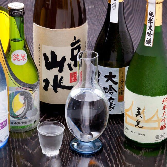 お料理を引きたてる京都ならではの地酒をセレクトいたしました