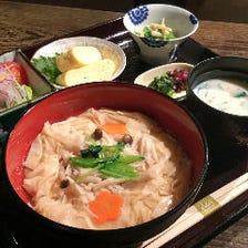 京湯葉丼定食