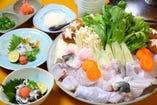 ◆大人気の活てっちりコース◆ 宴会用鍋コースも多種ご用意
