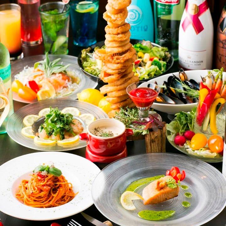 【2時間飲み放題付】KJ宴会・パーティーコース〈全6品〉