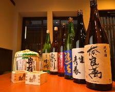 県内の厳選した日本酒が勢ぞろい