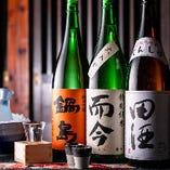 日本酒や焼酎も数多くご用意しております