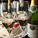 シャンパン&スパークリングワインもご用意☆
