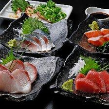 店主自ら買い付ける泉佐野漁港の鮮魚