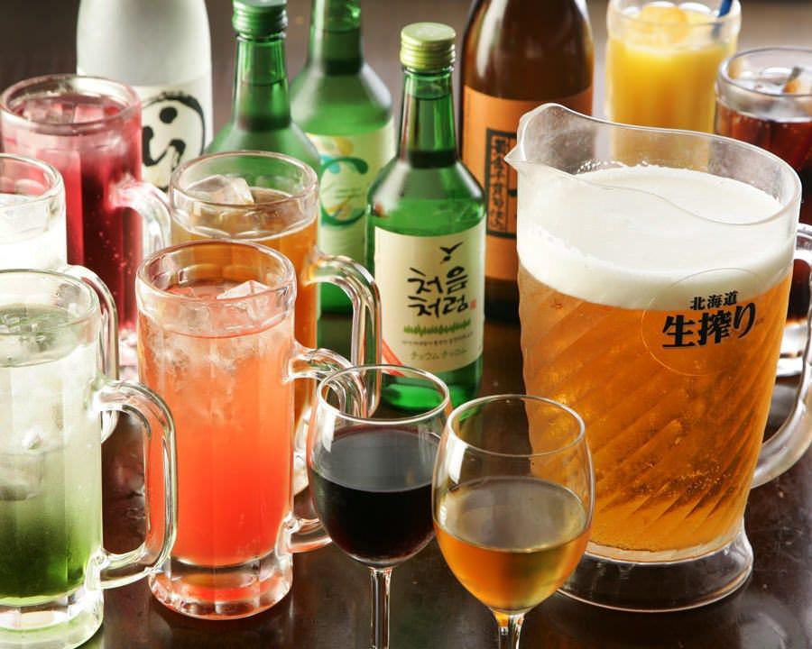 飲み放題+500円(税抜)でマッコリ各種も飲み放題です♪