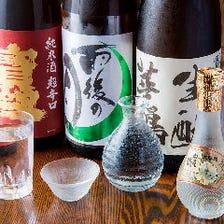 地元・広島の地酒を種類豊富にご用意