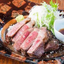 極上の広島牛を炙りステーキでご提供