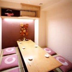 和情緒が漂う落ち着いた個室を完備