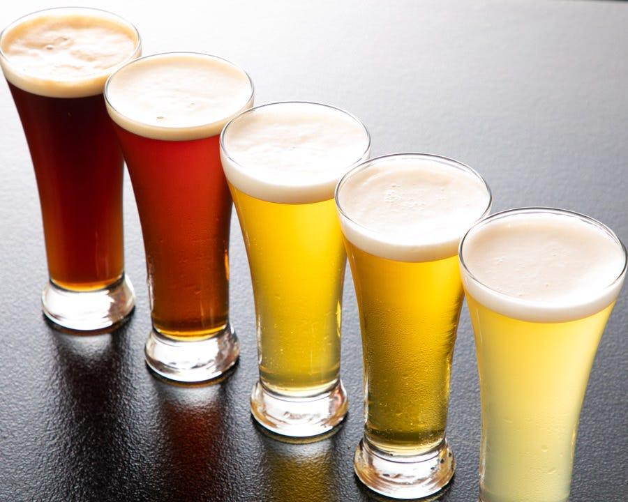 乾杯ビール、冷やしてお待ちしております