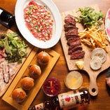 【石窯肉料理】 遠赤外線で焼き上げるお肉は絶品です♪