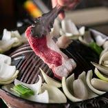 [2]お肉を載せます