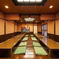 宴会の掘りごたつ個室ございます!