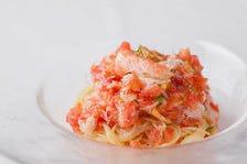 ズワイガニとフルーツトマトの冷製カッペリーニ