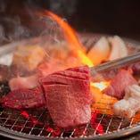 上質な肉質にこだわったお肉は七輪で炭焼き!