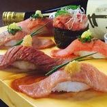 大人気の肉寿司!お肉とシャリのハーモニーをご堪能ください♪