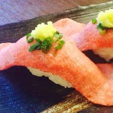 【絶品肉寿司】肉本来の旨味を味わう