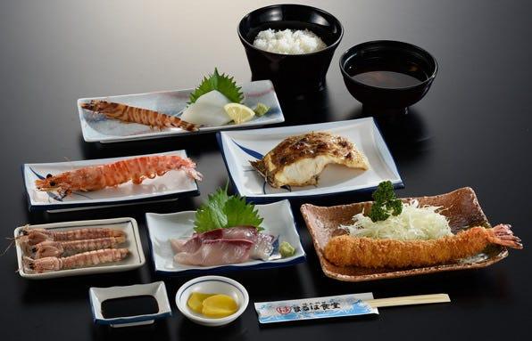 【3000円コース】名物エビフライにお刺身、わたりがに又は車えびおどり、季節の焼物、焼魚がついた全8品