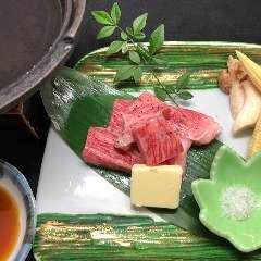 和牛ロースの鉄板焼き(ポン酢にて)
