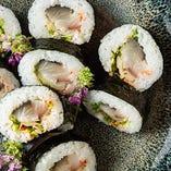 お食事の締め料理も多彩!〆鯖巻寿司、TKG、にゅうめんなど