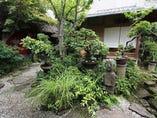 庭の中にある離れの茶室
