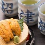 一番人気! 食べごたえのある一皿『生うに富士山盛り』