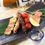 焼き鳥・串揚げ・こだわりの煮付け・おでん・焼き魚が人気