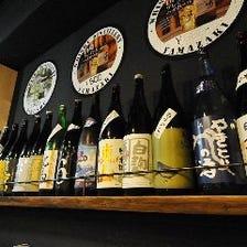 日本酒は定期的に新種をご用意!