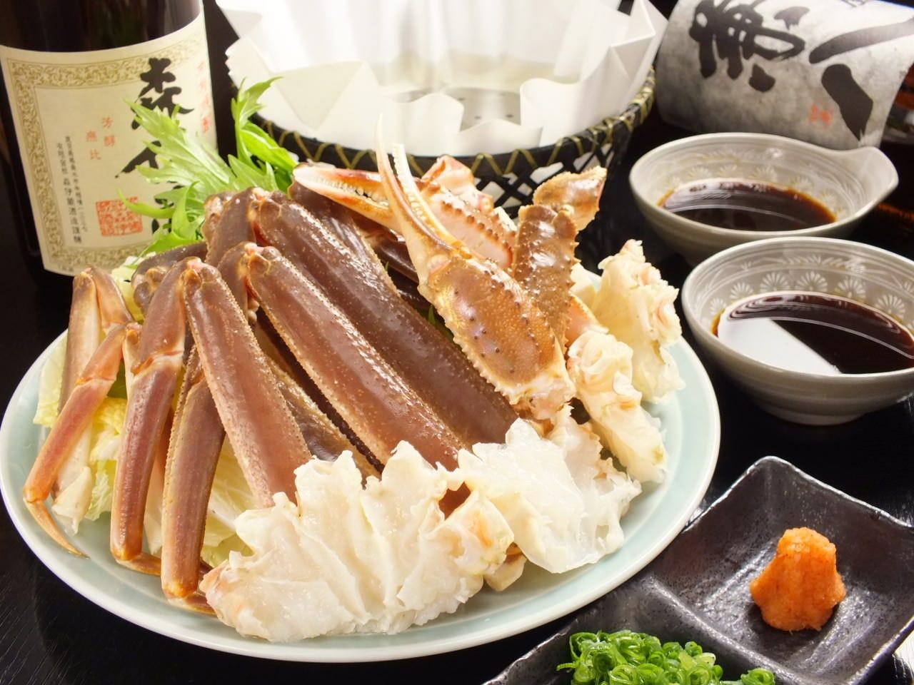 抜群の鮮度で旨味たっぷり!蟹料理