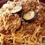 ラム肉のボロネーゼソース スパゲティ