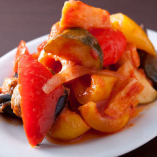 ズッキーニ、セロリなど7種野菜の冷製トマト煮込み