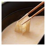 【有機大豆】の豆乳だし