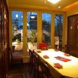 (バジル)5〜8名様向け お庭の見える完全個室です。